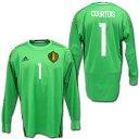 【日本未発売】ベルギー代表 2016 GK(薄緑) 長袖 #1 COURTOIS クルトワ ADIDAS