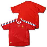 【ネームナンバー加工無料】 フランス代表 2008 アウェイ(赤) 子供用 adidas製