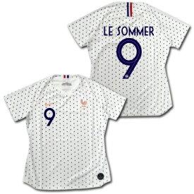 FIFA女子ワールドカップ2019 フランス代表 #9 LE SOMMER アウェイ(ポルカドット) 女性用 NIKE 【ネーム変更可能】