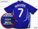 日本代表 2006 ホーム #7 中田英寿 マッチデー付き adidas製 インターナショナル仕様