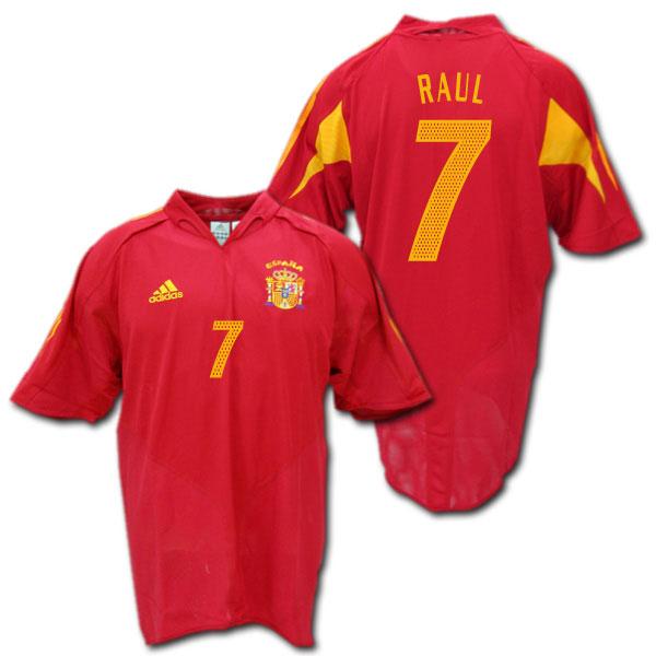 【ユーロ2004モデル】スペイン代表 2004 ホーム(赤) #7 RAUL ラウール ADIDAS