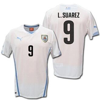 991177f1a01 O.K.A.Football  14 15 Uruguay national team Away (white)   9 L.SUAREZ  Suarez PUMA