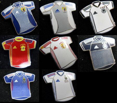 日本代表、フランス代表、ドイツ代表、スペイン代表 x アディダス ピン