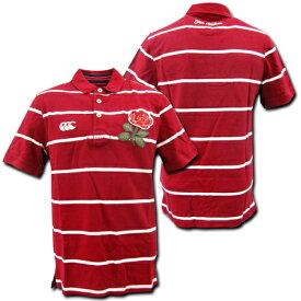 【5999円+税】 ラグビーイングランド代表 ポロシャツ(赤白ボーダー) CANTERBURY製