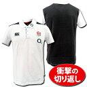【5999円+税】 ラグビーイングランド代表 【O2付き】トレーニング・ポロシャツ(白) CANTERBURY製