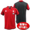 【5999円+税】 ラグビーイングランド代表 【BMW付き】トレーニング・ポロシャツ(赤) CANTERBURY製