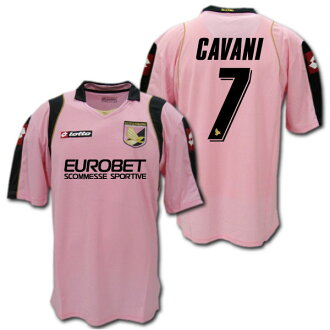 half off 95ea5 2953a And Palermo 08 / 09 home (Pink) # 7 CAVANI edinson CAVANI Lotto-