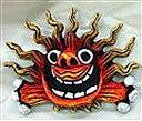 【米子焼】面太陽シーサー 赤