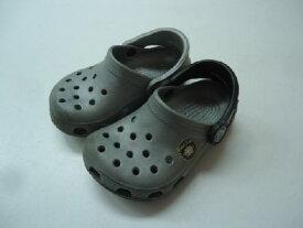 【中古】【あす楽可】【crocs クロックス】ファイターズ キッズ・ベビーサンダル☆6 7 (14cm程度)☆シルバー