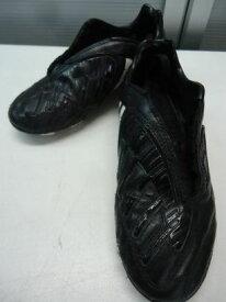 【中古】【あす楽可】adidas/アディダス■アブソラド パワースワーブ TRX HG J 034548/ジュニアサッカースパイク■22.0cm/US2 1/2/UK2/FR34■ブラック×ホワイト×ブルー■人工皮革■シンプルなデザインで使いやすいので是非お子様に♪