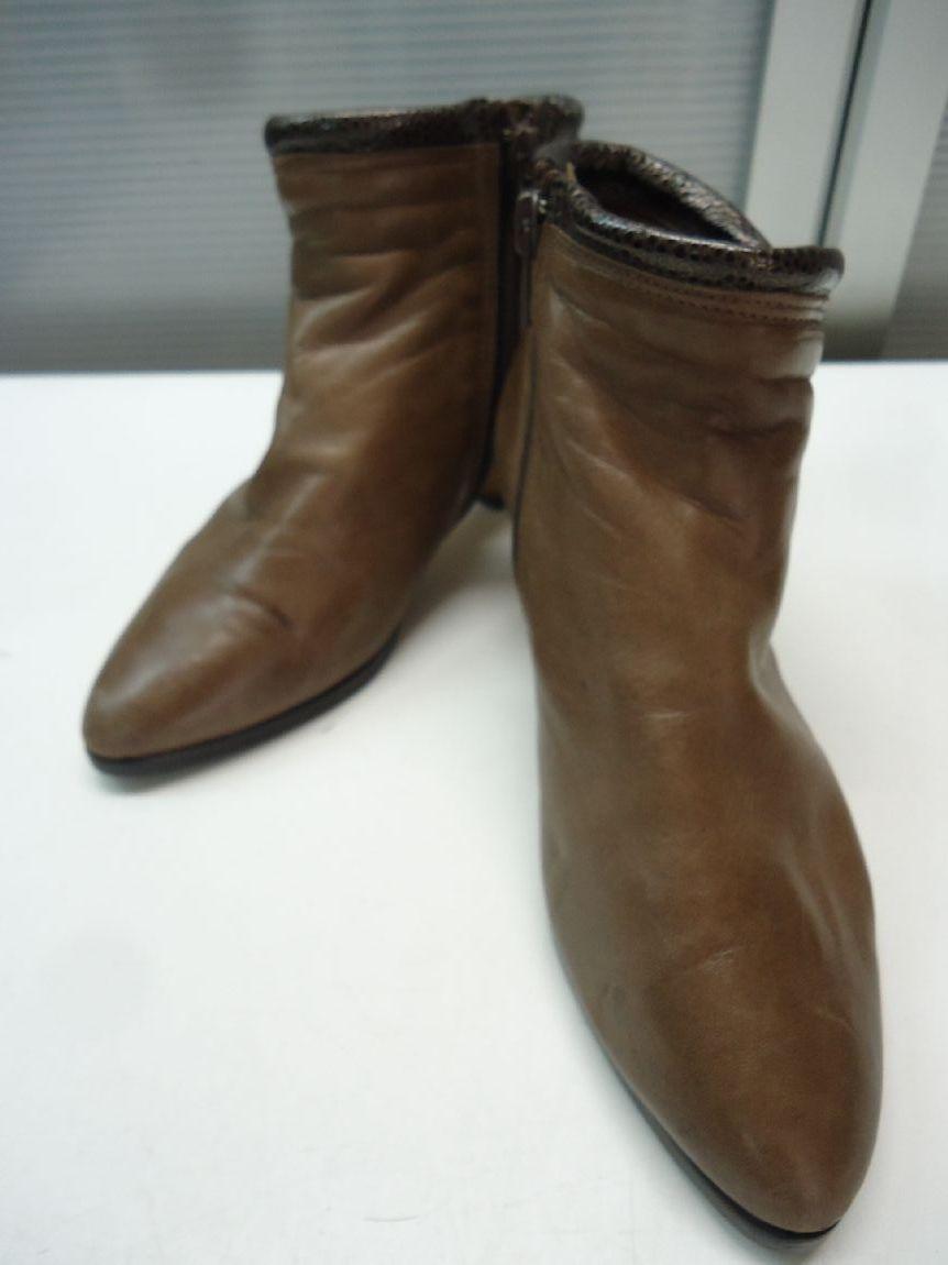 【中古】【あす楽可】Don Stream/ドンストリーム■アンクル丈ブーツ■22.0cm■ブラウン■内側にボアがとても暖かく、寒い冬も快適に過ごせます♪