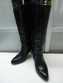【中古】【あす楽可】ブランド名不明■レザーブーツ 850■22.5cm■ブラック■雨の日にも活躍してくれそうな一足♪