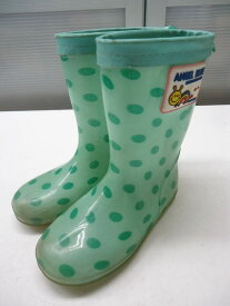 【中古】ANGEL BLUE/エンジェルブルー■キッズ レインブーツ 長靴■18.0cm■グリーン■雨の日もお出掛けが楽しくなっちゃうPOPで可愛いデザイン♪