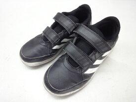 adidas/アディダス■21.5cm/US3/UK21/2/FR35/CHN210■AltaSport Shoes D96829 ジュニア キッズ ベルクロ マジックテープ スニーカー■ブラック/ホワイト■学校にも遊びにもぴったりなのが、このクラシックなテニスシューズからヒントを得たキッズシューズ☆【中古】