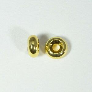 メタルパーツ スベーサー ドーナツゴールド7.5x4mm 5個 穴2mm