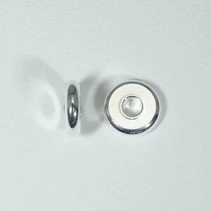 メタルパーツ スベーサー ドーナツホワイトシルバー8x2mm 5個