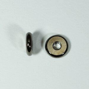 メタルパーツ スベーサー ドーナツBブラック8x2mm 5個 穴2mm
