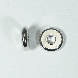 メタルパーツ スベーサー ドーナツロジウム10x2.5mm 5個 穴2.5mm