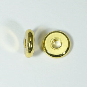 メタルパーツ スベーサー ドーナツゴールド8x2mm 5個 穴2mm