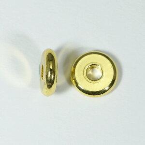 メタルパーツ スベーサー ドーナツゴールド10x2.5mm 5個 穴3mm