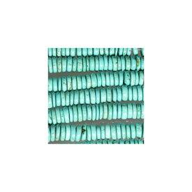 天然石 グリーンターコイズ ロンデル 9x2.5mm