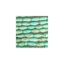天然石 グリーンターコイズ ナツメ型 10x30mm