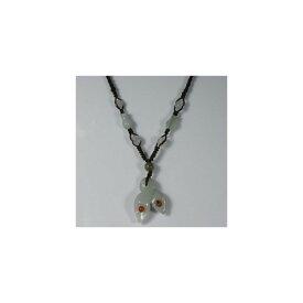翡翠 蘭の花 ネックレス 46