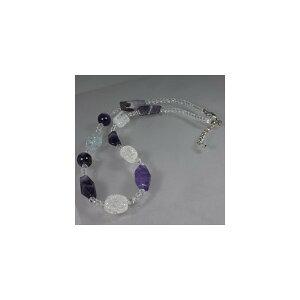 天然石 ネックレス 水晶&アメジスト 06