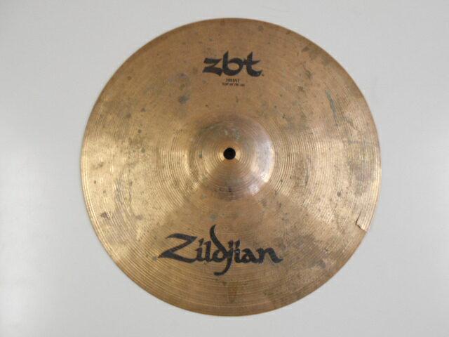 中古 割れあり Zildjian(ジルジャン) 14インチ ハイハットトップシンバル zbtシリーズ NAZLZB14HT