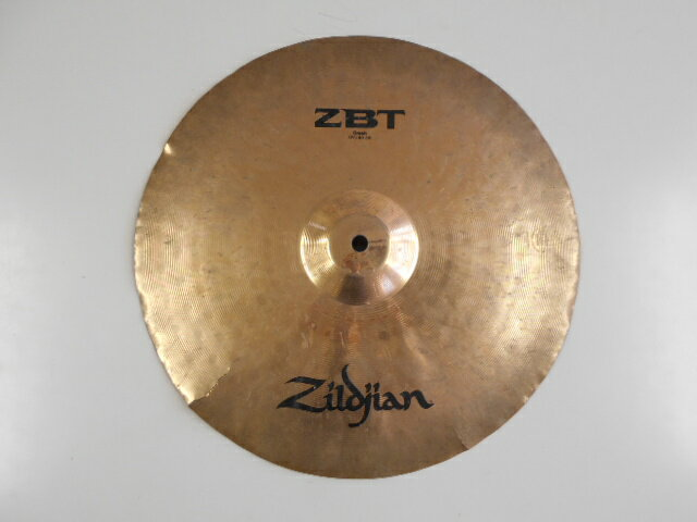 中古 割れあり Zildjian(ジルジャン) 16インチ クラッシュシンバル ZBT16C