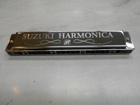 【定形外郵便】 送料無料! 新品 SUZUKI(スズキ) 複音ハーモニカ SU-21SP-N C調 セミハードケース付!