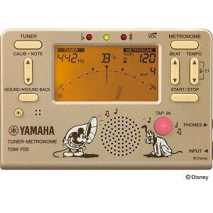 ★限定バージョン★ 【定形外郵便 送料無料】 YAMAHA ヤマハ チューナーメトロノーム TDM-700 DMK / ミッキーマウス (本体カラー: ラメ入りゴールド)