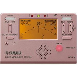 【定形外郵便 送料無料】 YAMAHA ヤマハ チューナーメトロノーム TDM-700P / ピンク