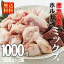 【あす楽】【送料無料】徳用牛ホルモンミックス 1.0kg(500g×2袋)(冷凍)