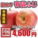 青森りんご☆送料無料☆訳ありりんご有袋ふじ10kg(10キロ)28〜40玉【わけありりんご】