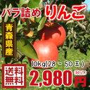 青森りんご☆送料無料☆バラ詰めりんご10kg(10キロ前後)28〜50玉【わけあり・訳ありりんご】