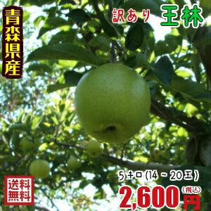 青森りんご☆送料無料☆訳ありりんご王林5キロ14〜20玉 発送は11月10日頃から