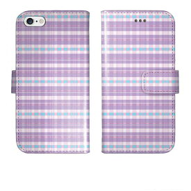 iPhoneXR iPhone XR iPhoneXs iPhone Xs Max iPhoneX iPhone8 Plus iPhone7 iPhone SE iPhone6s iPhone5s iPod touch 6 5 手帳型 ケース カバー かわいいチェック柄 パステル パープル