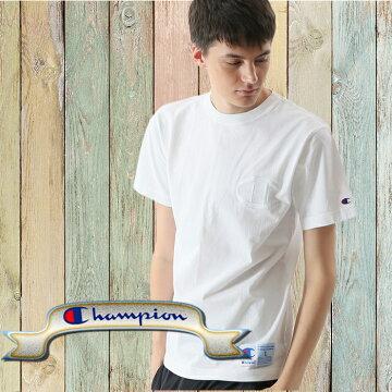 左胸ビッグC同色刺繍チャンピオンTシャツc3-m358-01