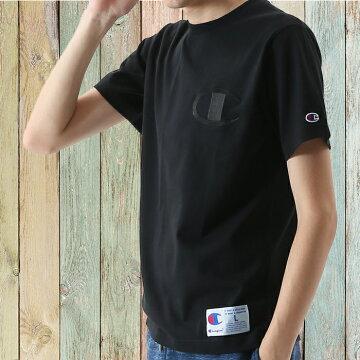 左胸ビッグC同色刺繍チャンピオンTシャツc3-m358-02