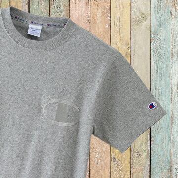 左胸ビッグC同色刺繍チャンピオンTシャツc3-m358-03