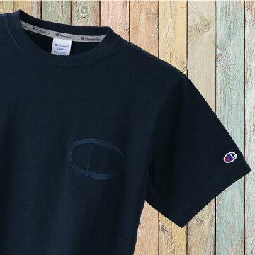 左胸ビッグC同色刺繍チャンピオンTシャツc3-m358-04