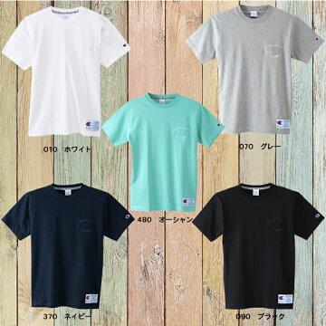 左胸ビッグC同色刺繍チャンピオンTシャツc3-m358-06