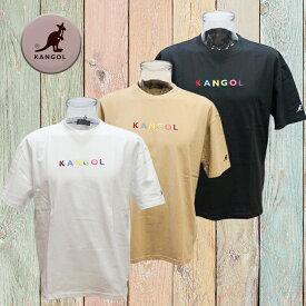 9273-0042 カンゴールTシャツ kangol ハーフスリーブTシャツ カラーロゴ刺繍
