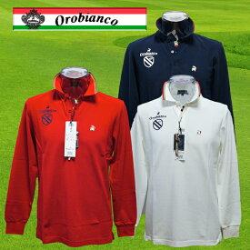 45875-305 Orobianco オロビアンコ メンズ 鹿の子 長袖 ポロシャツ