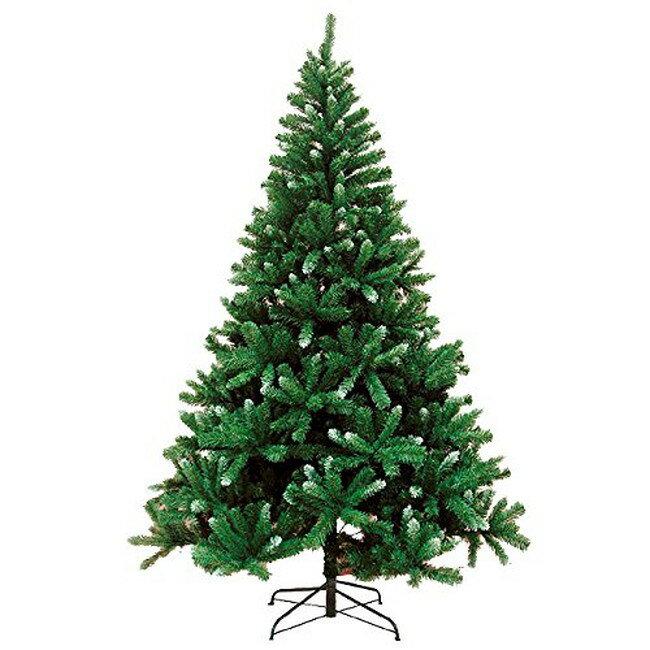 【送料無料】 クリスマスツリー ヌードツリー グリーン×ホワイト 210cm 装飾無し RT15N210-G 【ラッピング不可】