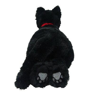 【送料無料】ひざねこぬいぐるみブラックSサイズ動物アニマル全長36cm