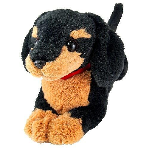 【送料無料】 ひざわんこ ミニチュアダックス ブラック ぬいぐるみ 犬 動物 アニマル 全長39cm