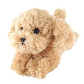 【送料無料】 ひざわんこ トイプードル ベージュ ぬいぐるみ 犬 動物 アニマル 全長37cm