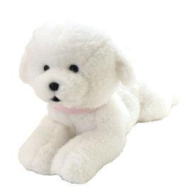 【送料無料】 ひざわんこ ビションフリーゼ ぬいぐるみ 犬 動物 アニマル 全長40cm P-4132